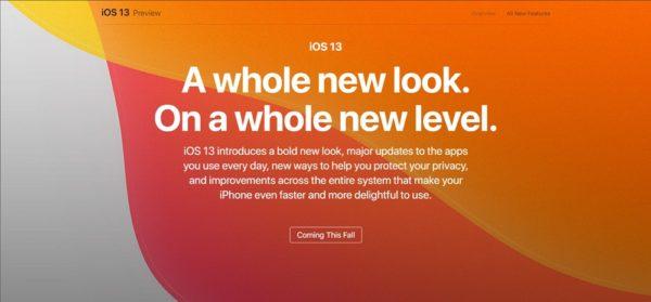 iOS 13発表!高速化やダークモードの搭載、「Sign in with Apple」機能など盛り沢山!ただしiPhone 5s, 6はサポート対象外に。
