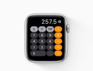 watchOS 6:計算機アプリ