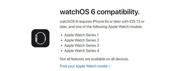 watchOS 6にアップデート可能な対応するApple Watch一覧