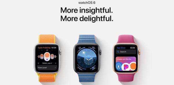 watchOS 6:新しいウォッチフェイスやApple Watch向けのApp Storeの登場など。
