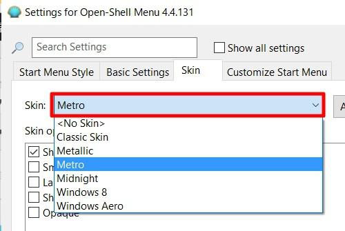 「Open Shell」の初期設定方法