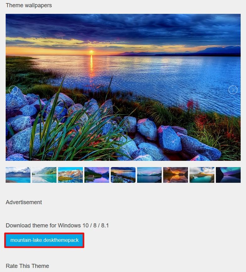 Windows 10:おすすめテーマダウンロードサイト【themepack.me】
