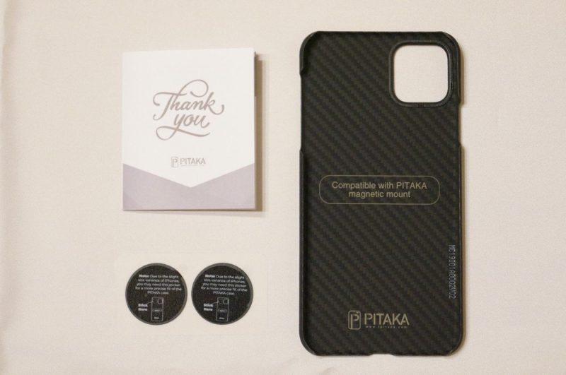 「PITAKA Magcase」iPhone 11 Pro Max用のセット内容