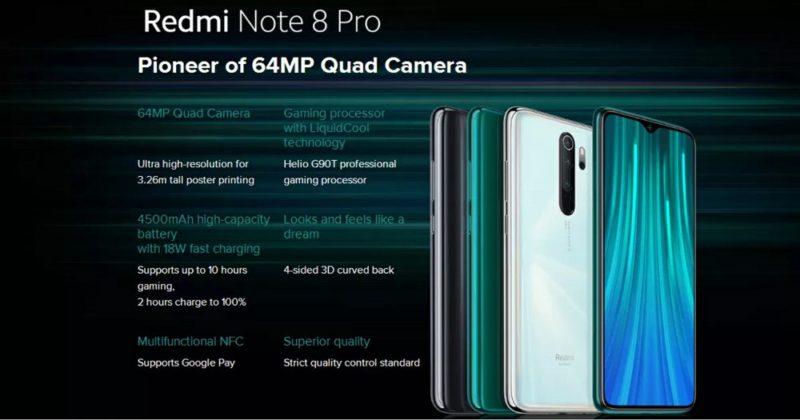 Xiaomi Redmi Note 8 Pro:スペック一覧