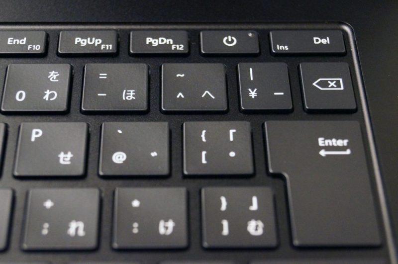 Surface Laptop 3 15インチレビュー:キーボード/タッチパッド