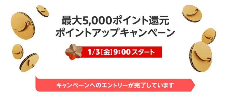 最大5,000ポイント還元キャンペーンへの参加もお忘れなく!