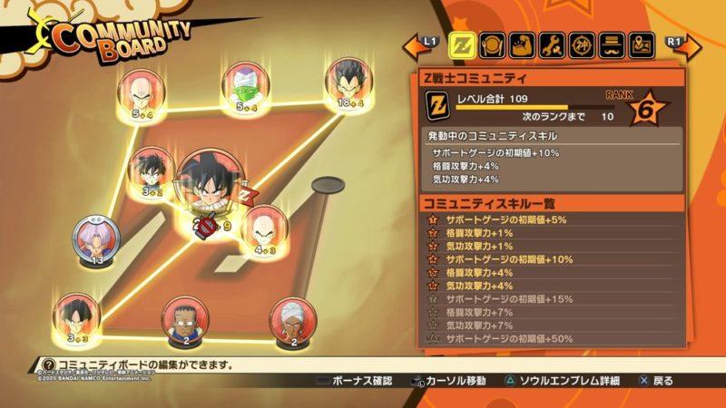 ドラゴンボールZ カカロット簡易攻略:レベルアップ/料理/必殺技ツリー/修行/コミュニティボードはしっかり活用を!