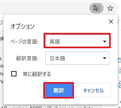 追記:日本語と英語などが混在するページは手動で【ページの言語】を設定しましょう