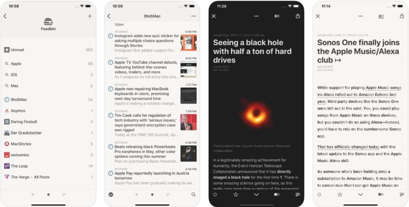 Reeder 4:iPhoneのRSSリーダーならこれ!神アプリ!