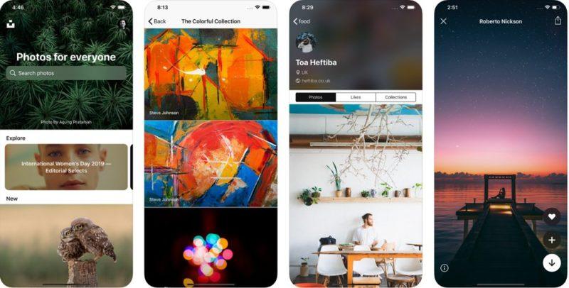 Unsplash:美麗な写真が楽しめる画像共有アプリ。