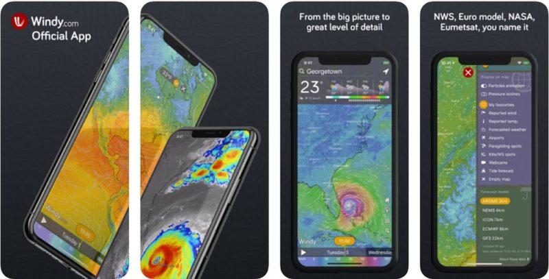 Windy.com:台風接近時などに便利!天気予報などを視覚的に確認可能!