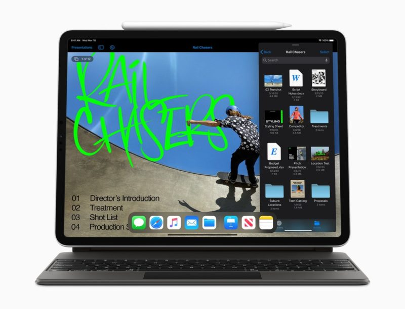 LiDARスキャナを搭載した新しい「iPad Pro」、iPadOSでトラックパッドに対応