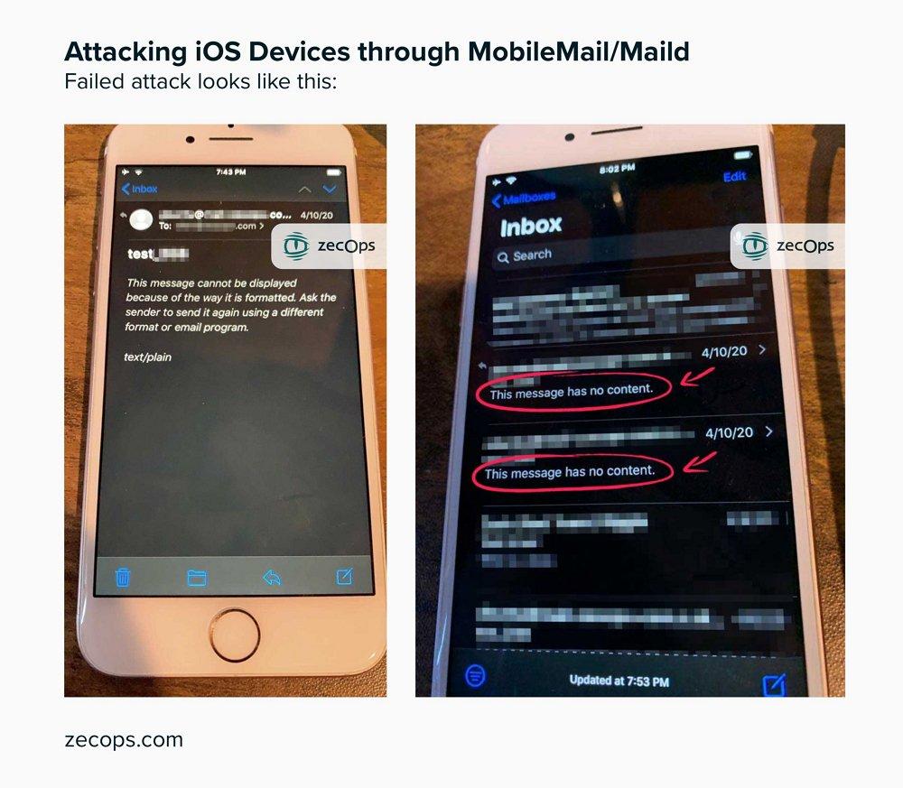 iPhoneの「メール」アプリにゼロデイ脆弱性発覚か。開かなくても感染するとの指摘も。