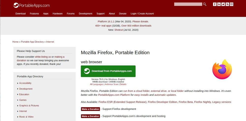 Firefox Portable 64bit 日本語版のダウンロード方法&インストール方法解説