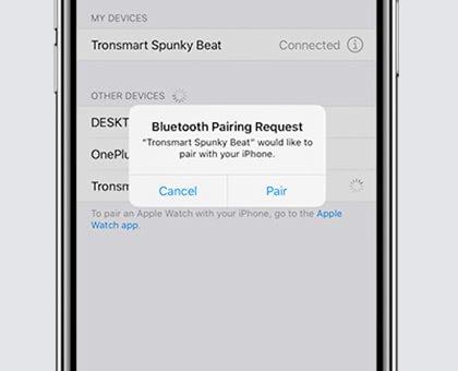 iPhoneと「Tronsmart Spunky Beat」のBluetooth接続/ペアリング方法解説