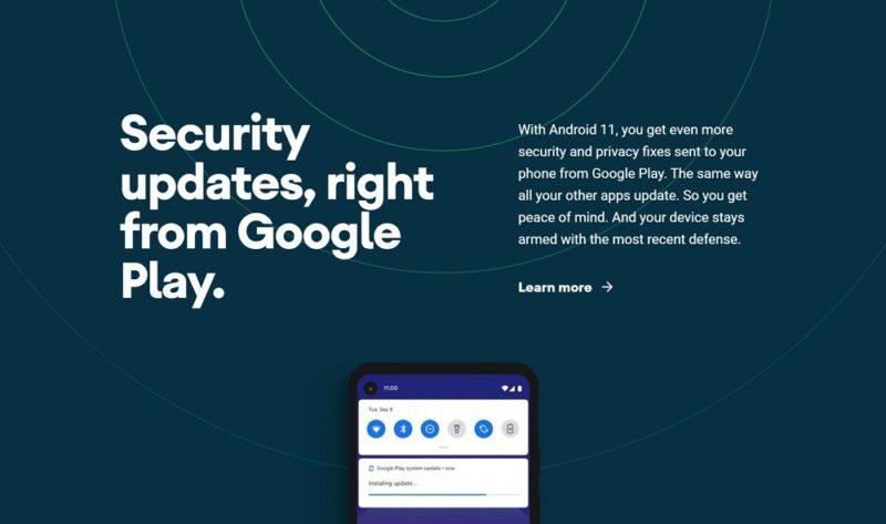 Google Playからのセキュリティアップデート