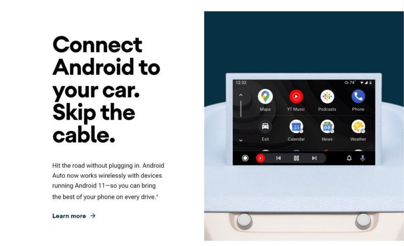 Android Autoでワイヤレス接続をサポート