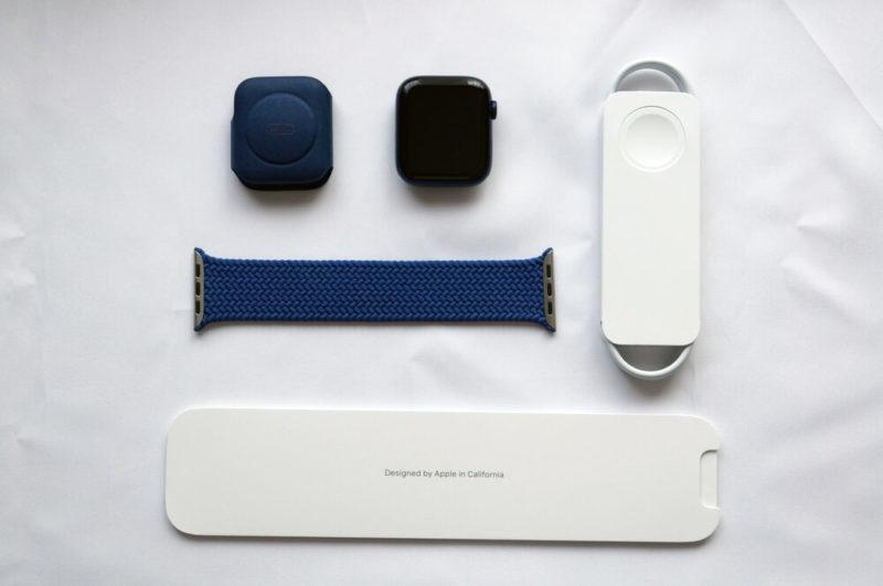 Apple Watch Series 6 Cellular 44mm ブルーアルミニウムケース&ブレイデッドソロループ:セット内容