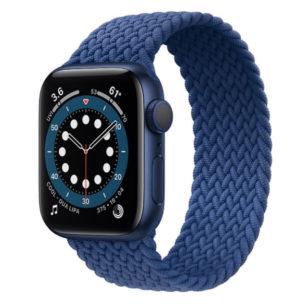 Apple Watch Series 6 Cellular 44mm ブルーアルミニウムケース&ブレイデッドソロループ