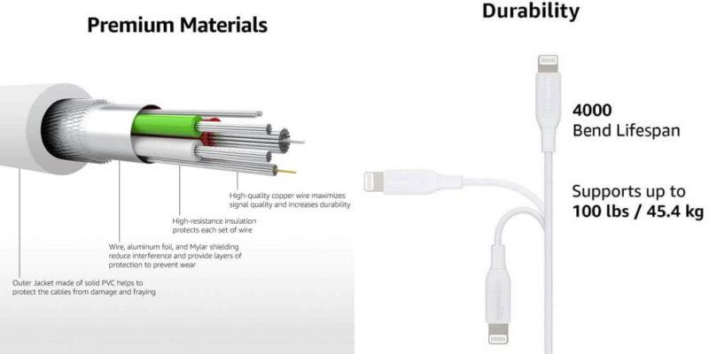 Amazonベーシック USB-C ライトニングケーブル:特徴
