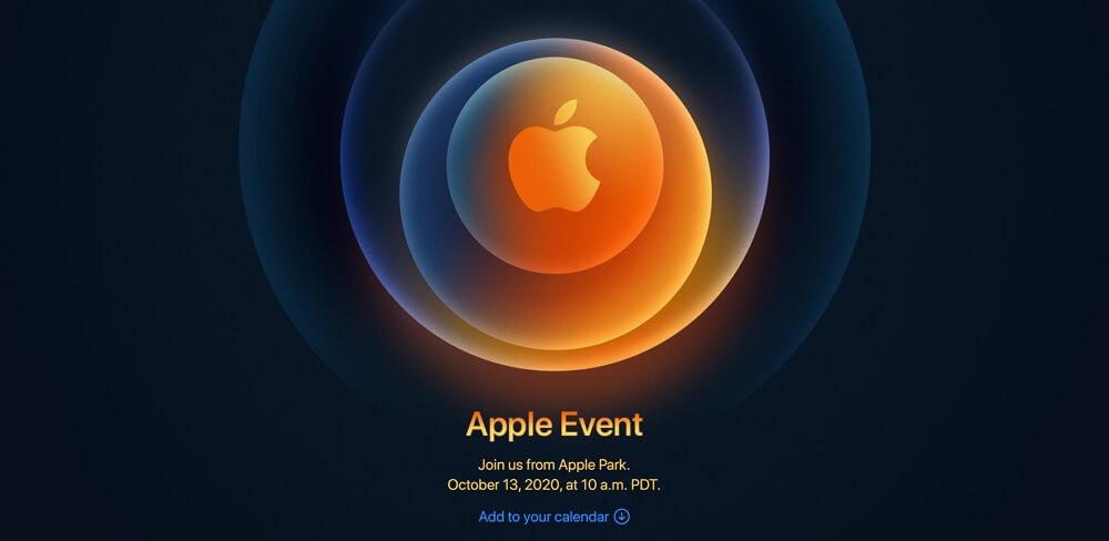 Appleが日本時間10月14日午前2時からスペシャルイベントの開催を発表!iPhone 12発表か。