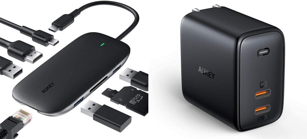 【10/16~】クーポンで最大43%オフ!AUKEY特価セール情報まとめ!大容量モバイルバッテリーや急速充電器、8in1 USB-Cハブなどがお得に購入可能!