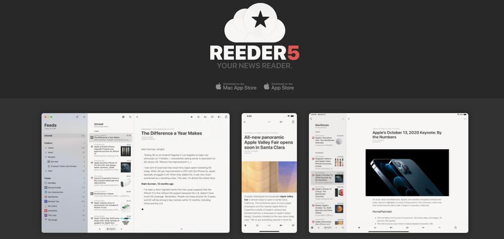 人気RSSリーダーアプリ「Reeder 5」が発売開始!新機能やアイコンの変更方法、Reeder 4からの引継ぎ方法をご紹介!