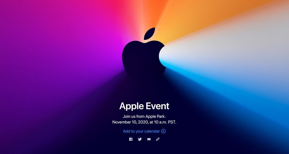 Appleが日本時間11月11日午前3時から「Apple Event」を開催!Apple Silicon Mac発表の噂。