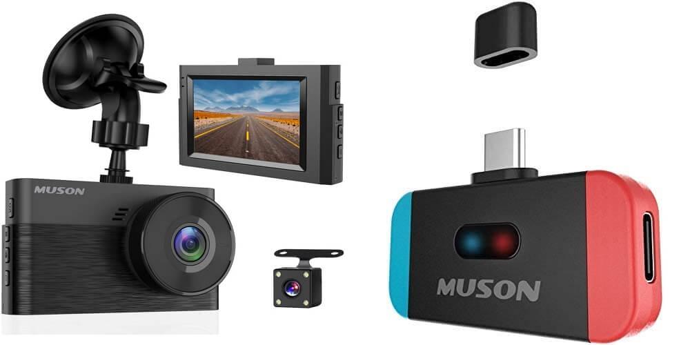 MUSONがAmazonにて在庫一掃セールを開催中!クーポン利用でドラレコ、アクションカメラ、Nintento SwitchにおすすめのBluetoothトランスミッターなどがお買い得に!