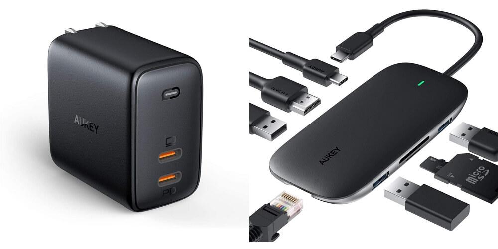 【12/17~】クーポンで最大40%オフ!AUKEY特価セール情報まとめ!急速充電器やワイヤレス充電対応モバイルバッテリー、8in1 USB-Cハブ、完全ワイヤレスイヤホンなどがお得に購入可能!