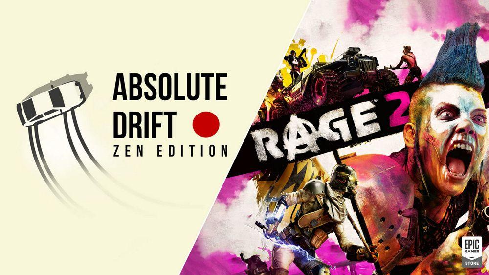 合計9,798円→無料!EpicGamesストアでオープンワールドFPS「Rage 2」と見下ろし型ドリフトレースゲーム「Absolute Drift」が2/26まで無料配布中!