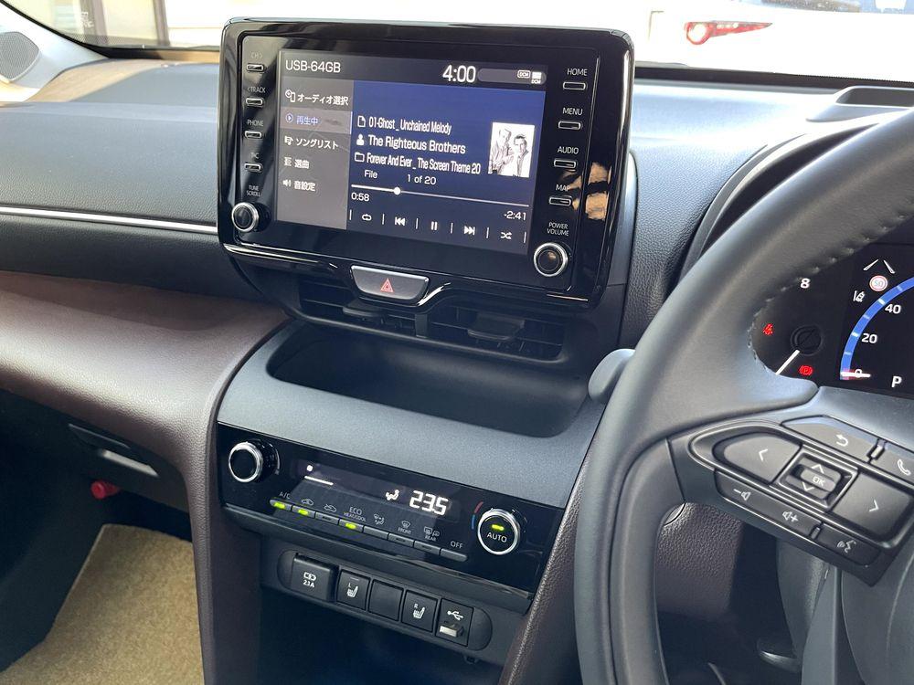 CDデッキのないヤリスクロスのディスプレイオーディオでUSBメモリに音楽を入れて聴く方法