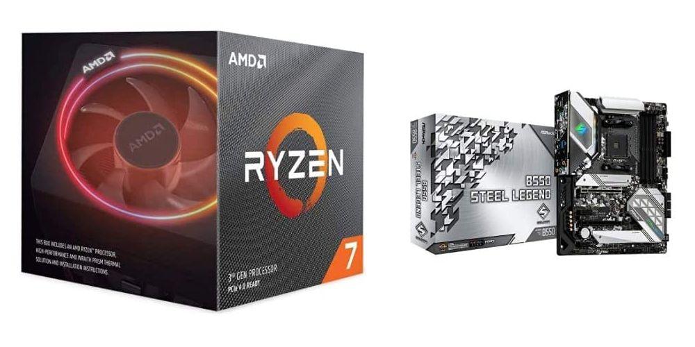 Amazonタイムセール:「AMD Ryzen 7 3700X」と「ASRock B550 Steel Legend」がセットで53,059円と超お得価格で販売中!