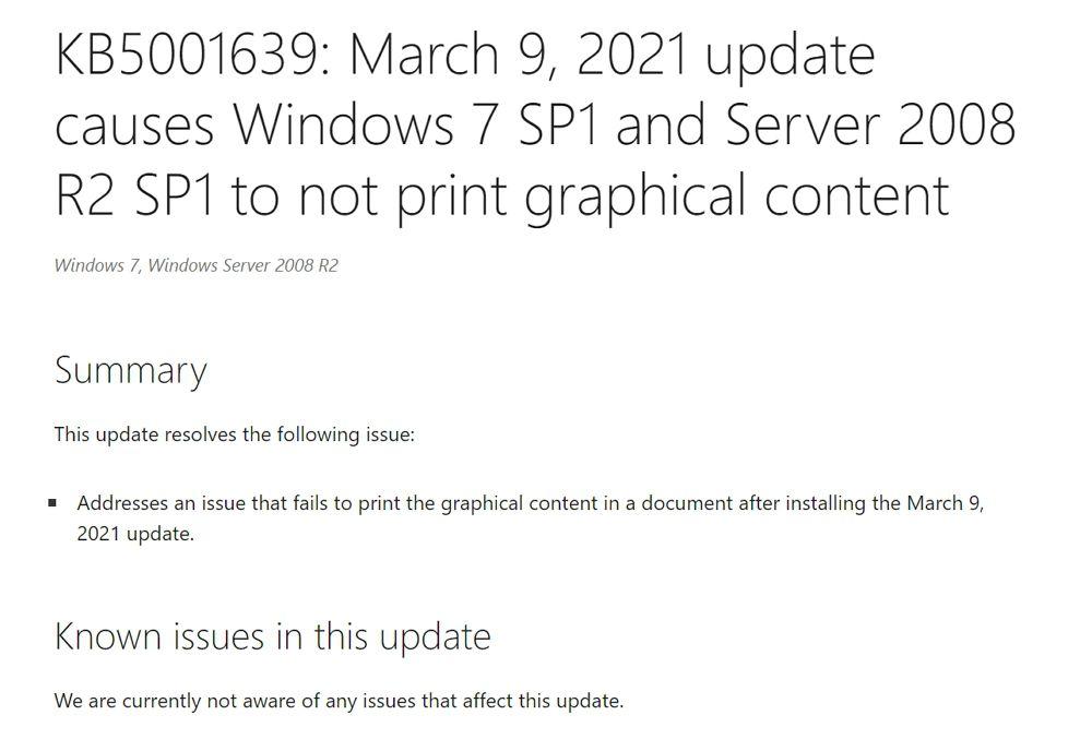 MicrosoftがWindows 7や8.1などの古いバージョン向けにもプリンター問題の修正プログラムを配信開始
