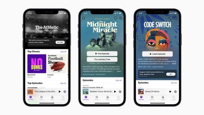 Apple Podcasts:アプリが大幅刷新&サブスクサービス開始でクリエイター支援も