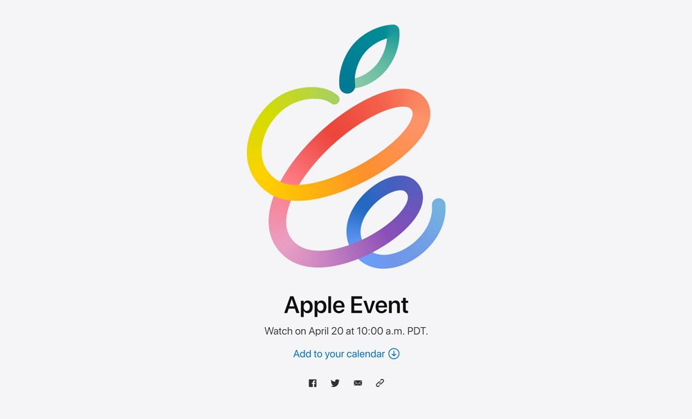Appleが正式にイベント開催を発表!日本では4月21日午前2時から!新型「iPad Pro」や新型「AirPods」、紛失防止タグ「AirTags」も?