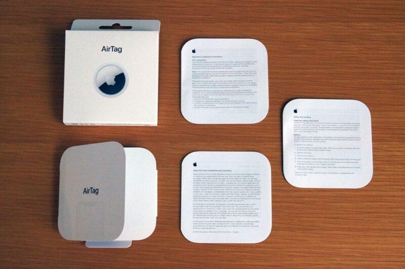 AirTagの同梱物