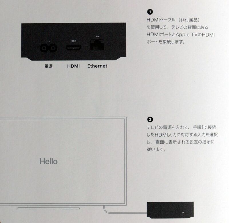 Apple TV 4K 第2世代:テレビとのセットアップについて
