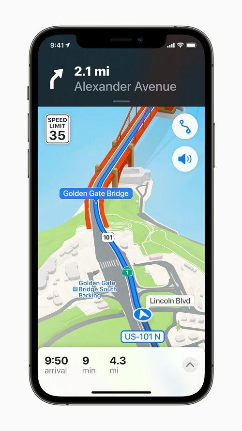 Appleのマップで世界を探索