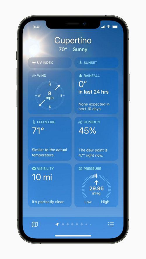 再設計された天気アプリケーションとメモアプリケーション