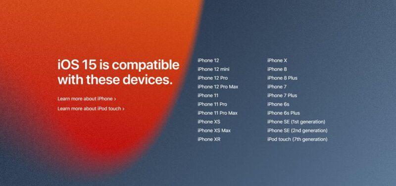 iOS 15の対応機種一覧:アップデート可能なiPhoneまとめ