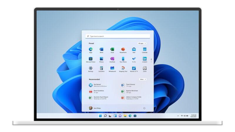 Windows 11:デザイン刷新!アイコンも大幅変更!スタートメニューは中央に!