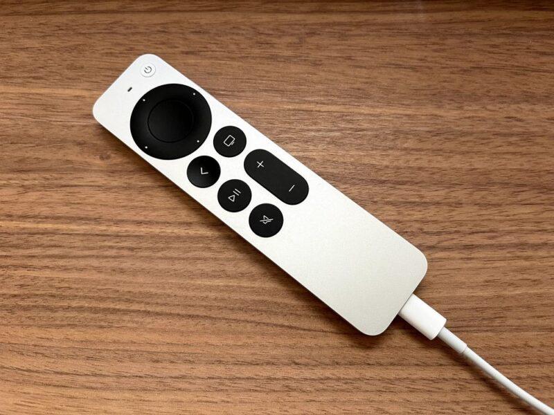 Apple TVのリモコンを充電してみる