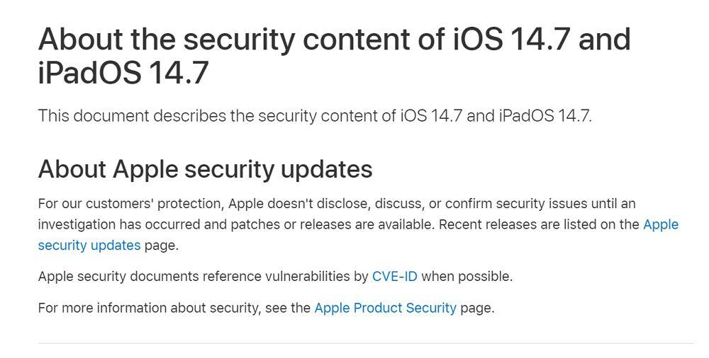 iOS 14.7 /iPadOS 14.7ではWi-Fi機能が無効化されるバグなど多数の不具合が改善!早急にアップデートの適用を!