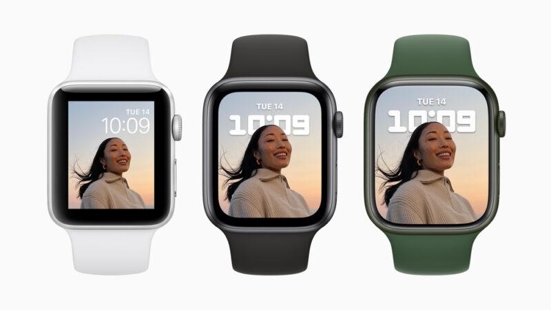Apple Watch Series7:ディスプレイサイズの比較