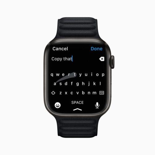 Apple Watch Series7の新しいQWERTYキーボード