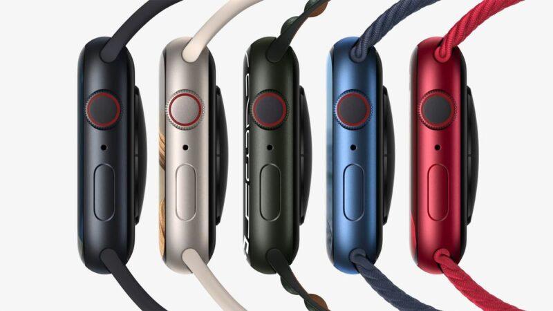 Apple Watch Series7のカラーラインナップ