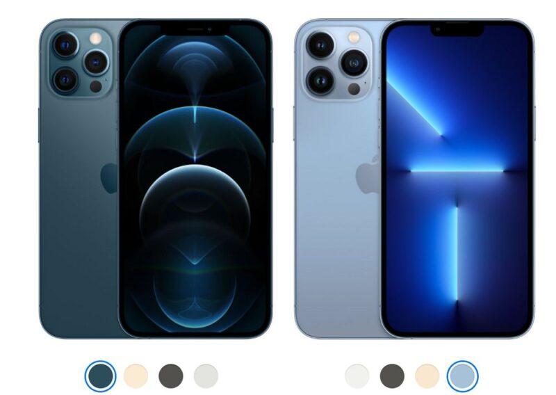 iPhone13 Pro MaxとiPhone12 Pro Maxの主要スペック比較