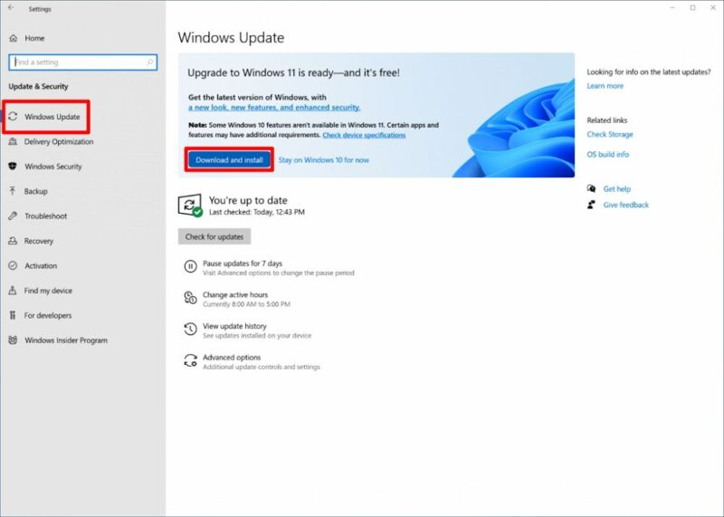 「Windows Update」経由でWindows 11へ無償アップグレードする